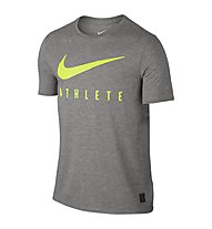 Nike Dri-Blend Mesh Swoosh Athlete Training Shirt Männer, Grey