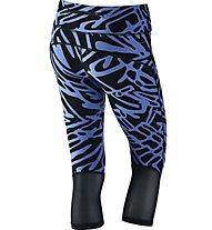 Nike Power Epic Lux - Damen Capri, Blue/Black