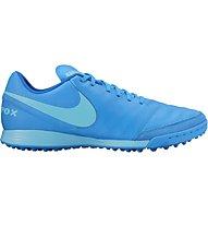 Nike Tiempo Genio II Leather TF - scarpe da calcio terreni duri, Blue Glow