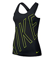 Nike Pro Hypercool Tank - top donna, Black/Volt