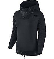 Nike Sportswear Advance 15 Pullover Hoodie Felpa con cappuccio fitness donna, Black