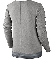 Nike Sportswear Advance 15 Crew Felpa Fitness Sweatshirt Damen, Grey