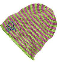 Norrona /29 crochet striped Beanie, Bamboo Green