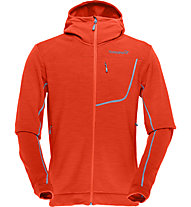 Norrona Bitihorn powerstretch Zip-Hood Kapuzenjacke, Hot Chili