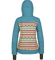 O'Neill Peridot giacca snowboard donna, Brown or Beige AOP W/Pink