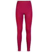 Odlo Pantalone lungo intimo donna Evolution warm Pant, Sangria/Zinfandel