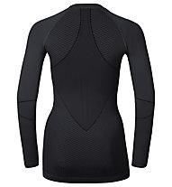Odlo Maglia funzionale manica lunga donna Evolution warm shirt l/s crew neck, Black/Odlo Graphite Grey