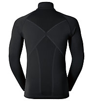 Odlo Evolution warm Shirt l/s turtle neck 1/2 zip, Black/Odlo grahite Grey
