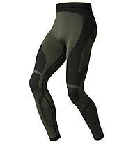 Odlo Evolution Warm Greentec Pants, Four leaf clover/Black