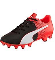 Puma Evo Speed 4.5 FG - Fußballschuh Junior für harte Naturböden, Red/Black