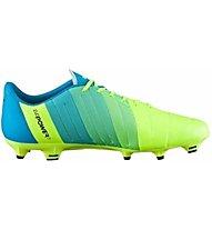 Puma EvoPower 3.3 FG Scarpa Calcio, Light Yellow/Blue/Black