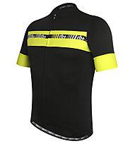 rh+ Maglia bici Academy, Black/Fluo Yellow