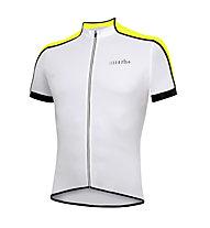 rh+ Prime Jersey Radtrikot, White/Fluo Yellow