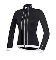 rh+ Sancy LS W Jersey langärmliges Damen-Radtrikot, Black/White