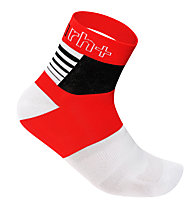 rh+ Zeta Sock 9 Fahrradsocken, Red/White/Black