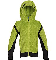 Rock Experience Crest Girl Hoodie Giacca in pile Bambina, Green