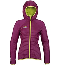Rock Experience New Icefall Padded Giacca ibrida con cappuccio donna, Pink