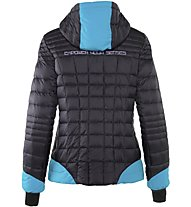 Rock Experience Stone Henge Mixed Padded Wom Giacca Donna, Black/Light Blue