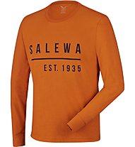 Salewa Binne Long Sleeve Tee Maglia a maniche lunghe trekking, Orange