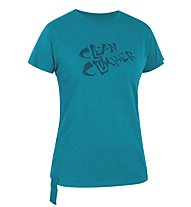 Salewa Clean Climb CO W S/S Tee, Pagoda