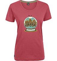 Salewa Demuth T-Shirt trekking donna, Framboise