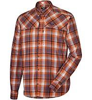 Salewa Fanes Flannel Pl M L/S Srt Camicia a maniche lunghe trekking, Orange
