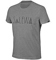 Salewa Frea Graph Dry M S/S Tee T-Shirt Arrampicata, Grey