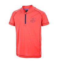 Salewa Pedroc DRY Half-Zip T-Shirt trekking bambino, Hot Coral