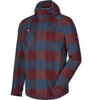 Salewa Puez Pl M L/S Srt Camicia Maniche lunghe Trekking, Red/Blue