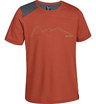 Salewa Sassolungo Dry'ton Shirt Kinder, Terracotta