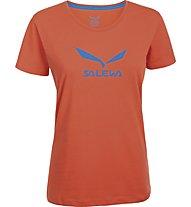 Salewa Solidlogo T-Shirt arrampicata donna, Tigerlilly