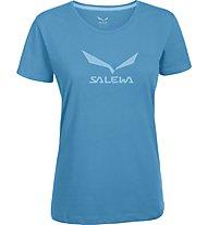 Salewa Solidlogo T-Shirt arrampicata donna, Opale