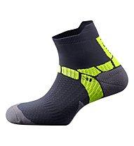 Salewa Ultra Training Socks Calzini Corti trekking, Carbon/Yellow