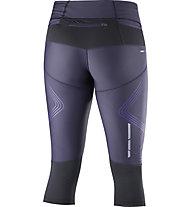 Salomon Intensity 3/4 Tight W - pantaloni running 3/4 donna, Grey