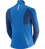 Salomon Momentum Softshell Jacket M Giacca Softshell, Union Blue/Midnight Blue