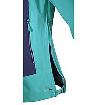 Salomon Nebula Stretch 2.5L - giacca hardshell donna, Teal Blue/Nightshade Grey