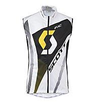 Scott RC Pro Windbreaker Vest, White/Yellow rc