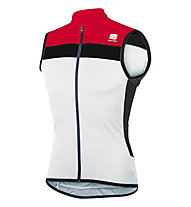 Sportful Pista Sleeveless jersey Top ciclismo, White/Red