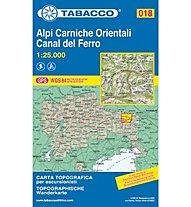 Tabacco N° 018 Alpi Carniche Orientali - Canal del Ferro (1:25.000), 1:25.000