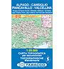 Tabacco N° 012 Alpago - Cansiglio - Piancavallo - Valcellina (1:25.000), 1:25.000