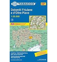 Tabacco N° 021 Dolomiti Friulane e d'oltre Piave (1:25.000), 1:25.000