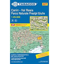 Tabacco N° 027 Canin, Val Resia, Parco Naturale Prealpi Giulie (1:25.000), 1:25.000