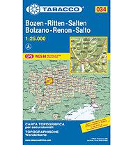 Tabacco N° 034 Bolzano/Renon - Bozen/Ritten (1:25.000), 1:25.000