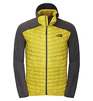 The North Face Thermoball Micro Hybrid Hoodie, Acid Yellow/Asphalt Grey