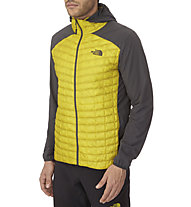 The North Face Thermoball Micro giacca ibrida con cappuccio, Acid Yellow/Asphalt Grey
