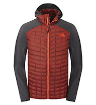 The North Face Thermoball Micro giacca ibrida con cappuccio, Rosewood Red/Asphalt Grey