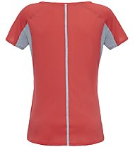 The North Face W Dynamix S/S Damen Fitness Shirt Kurzarm, Grey/Red