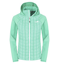 The North Face Thermoball Micro Hybrid Hoodie Damen, Green Ash/Surreal Green