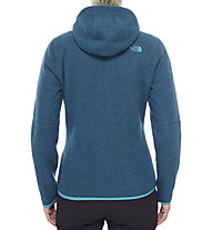 The North Face Zermatt Full Zip Hoodie Giacca in pile donna, Balsam Blue Heather