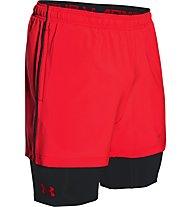Under Armour 2in1 Trainer HeadGear Short Herren, Red/Black